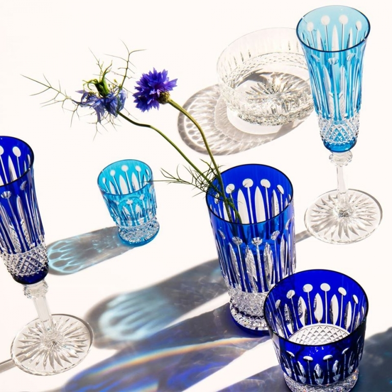 Crystal glasses TOMMY COLLECTION. Blue essentials for a perfect summer table.